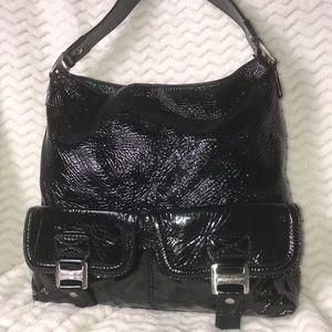 Michael Kors Black Patent leather shoulder bag